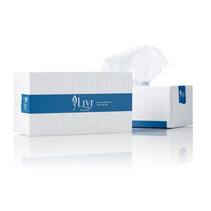 356015 - LIVI 2-PLY WHITE FACIAL TISSUE FLAT BOX