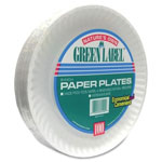 "225023 - 9"" Uncoated White Paper Plate"